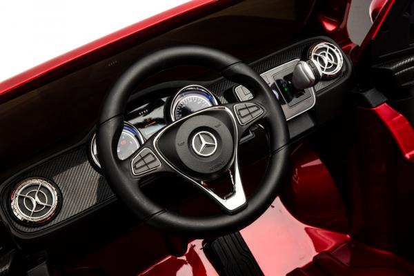 Masinuta electrica 4 x 4 Premier Mercedes X-Class, 12V, ecran LCD, MP4, roti cauciuc EVA, scaun piele ecologica, rosu [13]