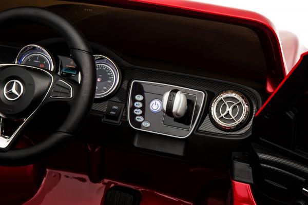 Masinuta electrica 4 x 4 Premier Mercedes X-Class, 12V, ecran LCD, MP4, roti cauciuc EVA, scaun piele ecologica, rosu [14]