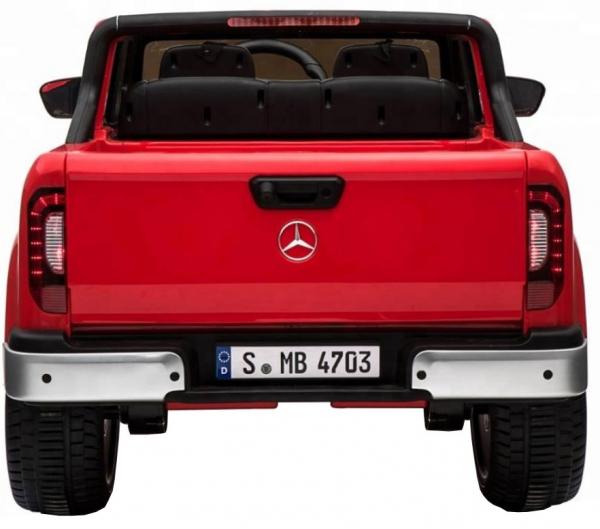 Masinuta electrica 4 x 4 Premier Mercedes X-Class, 12V, ecran LCD, MP4, roti cauciuc EVA, scaun piele ecologica, rosu [1]