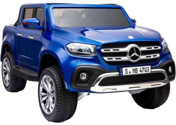 Masinuta electrica 4 x 4 Premier Mercedes X-Class, 12V, roti cauciuc EVA, scaun piele ecologica, albastru [3]