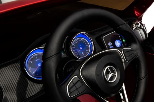 Masinuta electrica 4 x 4 Premier Mercedes X-Class, 12V, roti cauciuc EVA, scaun piele ecologica, rosu [14]