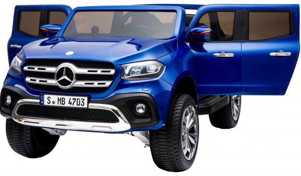 Masinuta electrica 4 x 4 Premier Mercedes X-Class, 12V, ecran LCD, MP4, roti cauciuc EVA, scaun piele ecologica, albastru 1