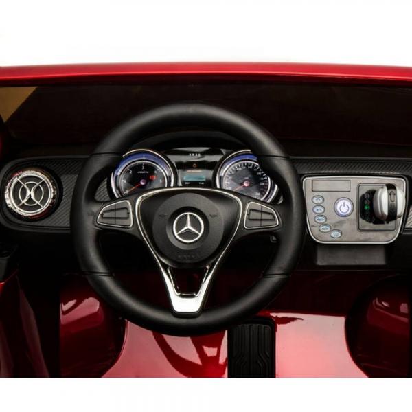 Masinuta electrica 4 x 4 Premier Mercedes X-Class, 12V, roti cauciuc EVA, scaun piele ecologica, rosu [4]