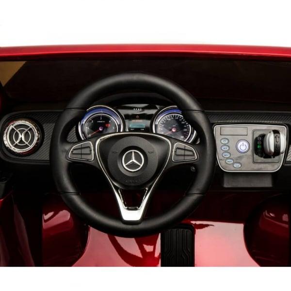 Masinuta electrica 4 x 4 Premier Mercedes X-Class, 12V, ecran LCD, MP4, roti cauciuc EVA, scaun piele ecologica, rosu [5]
