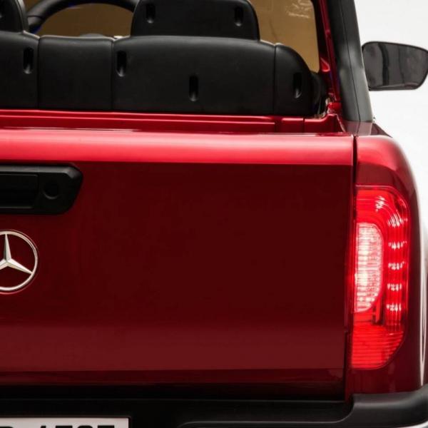 Masinuta electrica 4 x 4 Premier Mercedes X-Class, 12V, roti cauciuc EVA, scaun piele ecologica, rosu [2]