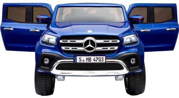 Masinuta electrica 4 x 4 Premier Mercedes X-Class, 12V, ecran LCD, MP4, roti cauciuc EVA, scaun piele ecologica, albastru 2