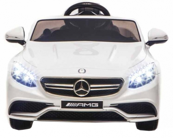 Masinuta electrica Premier Mercedes SL65 AMG, 12V, roti cauciuc EVA, scaun piele ecologica, alb [1]