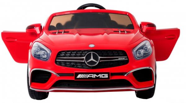 Masinuta electrica Premier Mercedes SL65 AMG, 12V, roti cauciuc EVA, scaun piele ecologica, rosu [1]
