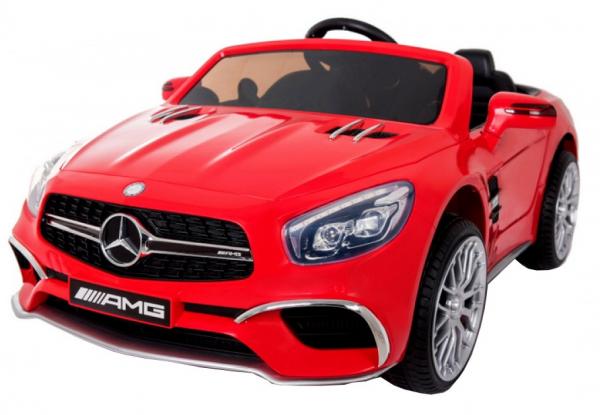 Masinuta electrica Premier Mercedes SL65 AMG, 12V, roti cauciuc EVA, scaun piele ecologica, rosu [0]