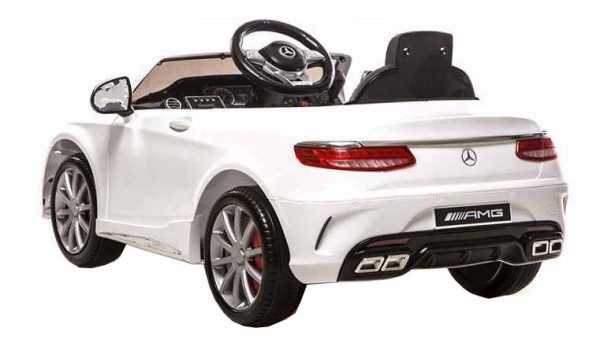 Masinuta electrica Premier Mercedes SL65 AMG, 12V, roti cauciuc EVA, scaun piele ecologica, alb [2]