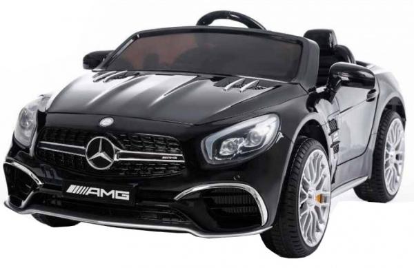 Masinuta electrica Premier Mercedes SL65 AMG, 12V, roti cauciuc EVA, scaun piele ecologica [4]