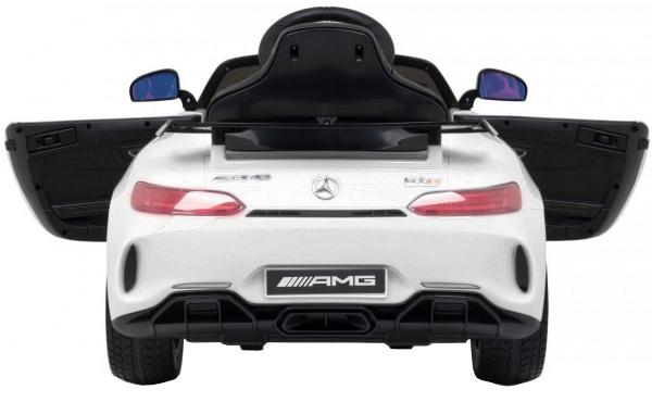 Masinuta electrica Premier Mercedes GT-R, 12V, roti cauciuc EVA, scaun piele ecologica, alb [2]