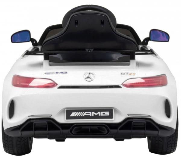 Masinuta electrica Premier Mercedes GT-R, 12V, roti cauciuc EVA, scaun piele ecologica, alb [3]
