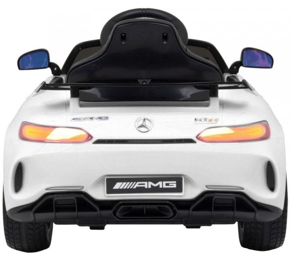 Masinuta electrica Premier Mercedes GT-R, 12V, roti cauciuc EVA, scaun piele ecologica, alb [4]