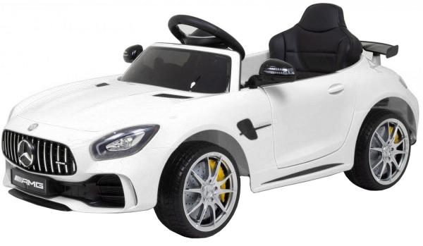 Masinuta electrica Premier Mercedes GT-R, 12V, roti cauciuc EVA, scaun piele ecologica, alb [5]