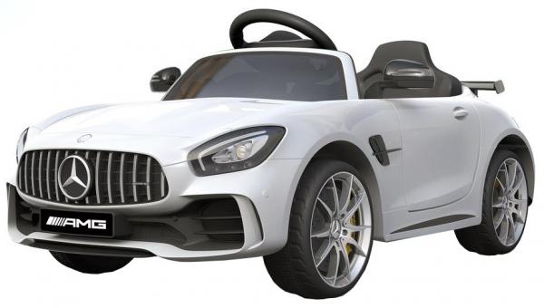Masinuta electrica Premier Mercedes GT-R, 12V, roti cauciuc EVA, scaun piele ecologica, alb [0]