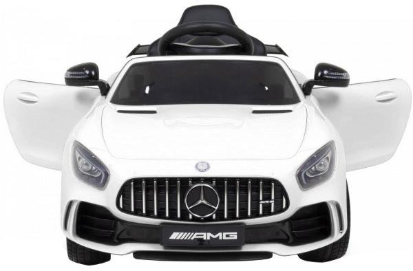 Masinuta electrica Premier Mercedes GT-R, 12V, roti cauciuc EVA, scaun piele ecologica, alb [1]