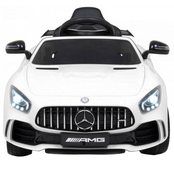 Masinuta electrica Premier Mercedes GT-R, 12V, roti cauciuc EVA, scaun piele ecologica, alb [11]
