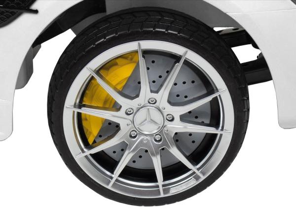 Masinuta electrica Premier Mercedes GT-R, 12V, roti cauciuc EVA, scaun piele ecologica, alb [7]