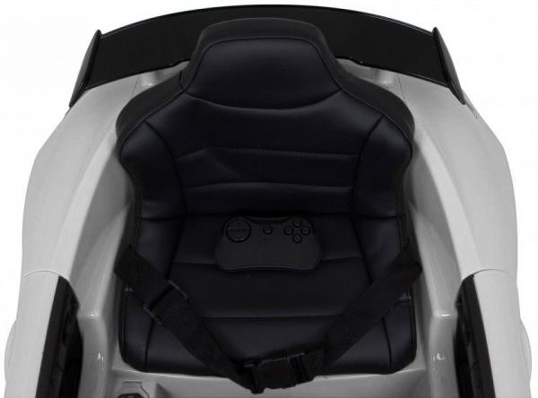Masinuta electrica Premier Mercedes GT-R, 12V, roti cauciuc EVA, scaun piele ecologica, alb [8]