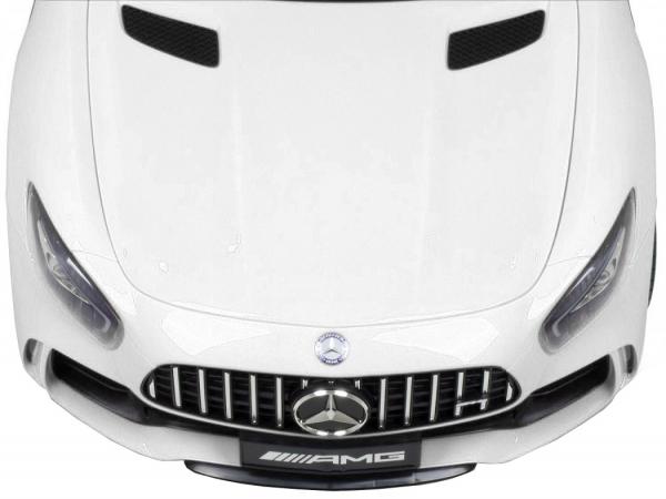 Masinuta electrica Premier Mercedes GT-R, 12V, roti cauciuc EVA, scaun piele ecologica, alb [9]