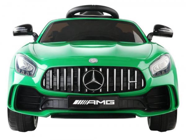 Masinuta electrica Premier Mercedes GT-R, 12V, roti cauciuc EVA, scaun piele ecologica, verde 5