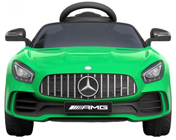 Masinuta electrica Premier Mercedes GT-R, 12V, roti cauciuc EVA, scaun piele ecologica, verde 2