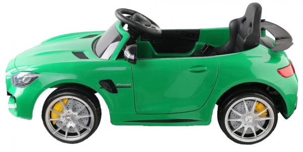 Masinuta electrica Premier Mercedes GT-R, 12V, roti cauciuc EVA, scaun piele ecologica, verde 6