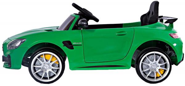 Masinuta electrica Premier Mercedes GT-R, 12V, roti cauciuc EVA, scaun piele ecologica, verde 1
