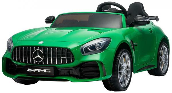 Masinuta electrica Premier Mercedes GT-R, 12V, roti cauciuc EVA, scaun piele ecologica, verde 9