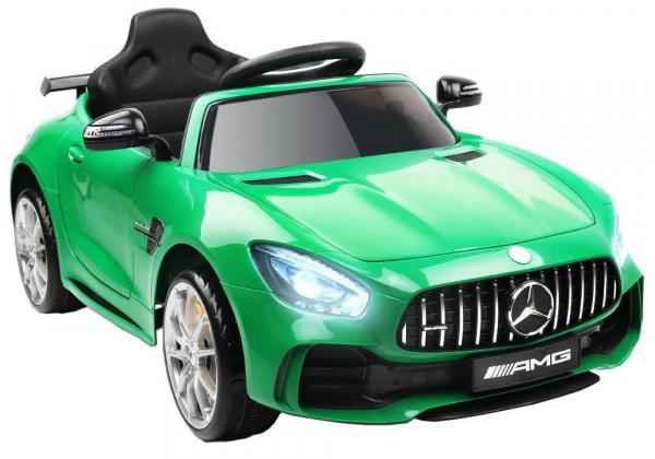 Masinuta electrica Premier Mercedes GT-R, 12V, roti cauciuc EVA, scaun piele ecologica, verde 3
