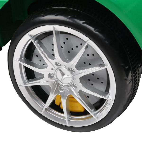 Masinuta electrica Premier Mercedes GT-R, 12V, roti cauciuc EVA, scaun piele ecologica, verde 8