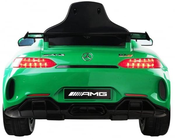 Masinuta electrica Premier Mercedes GT-R, 12V, roti cauciuc EVA, scaun piele ecologica, verde 7