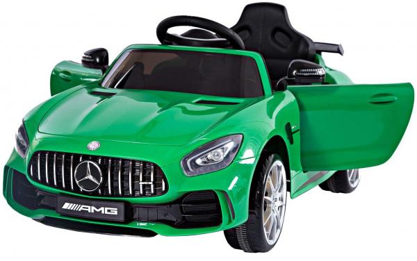 Masinuta electrica Premier Mercedes GT-R, 12V, roti cauciuc EVA, scaun piele ecologica, verde 0