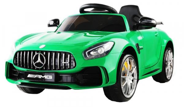 Masinuta electrica Premier Mercedes GT-R, 12V, roti cauciuc EVA, scaun piele ecologica, verde 4