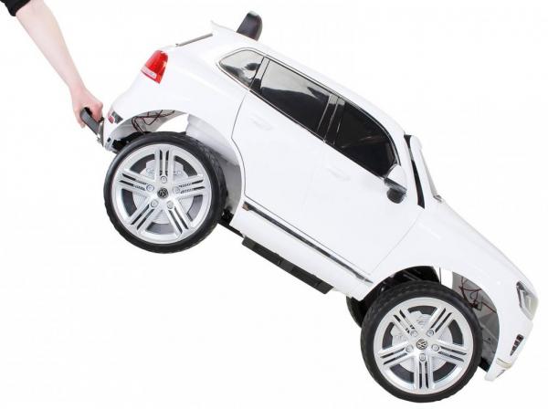 Masinuta electrica Premier Volkswagen Touareg, 12V, roti cauciuc EVA, scaun piele ecologica, alb [6]