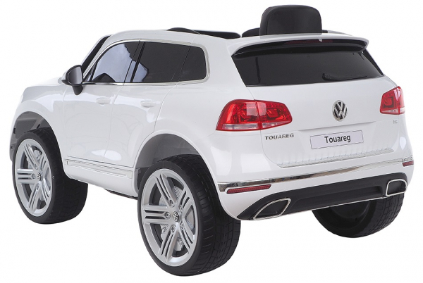 Masinuta electrica Premier Volkswagen Touareg, 12V, roti cauciuc EVA, scaun piele ecologica, alb [3]