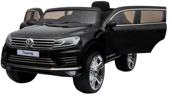Masinuta electrica Premier Volkswagen Touareg, 12V, roti cauciuc EVA, scaun piele ecologica, negru 3