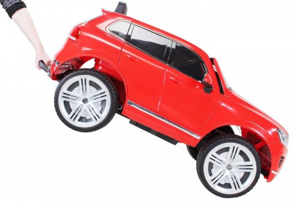 Masinuta electrica Premier Volkswagen Touareg, 12V, roti cauciuc EVA, scaun piele ecologica, rosu 1