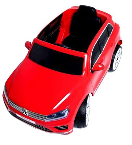 Masinuta electrica Premier Volkswagen Touareg, 12V, roti cauciuc EVA, scaun piele ecologica, rosu 3