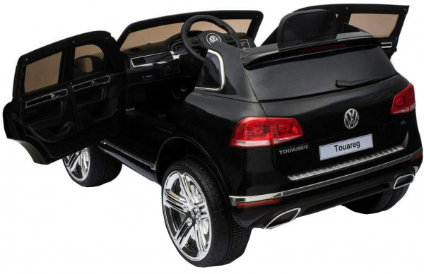Masinuta electrica Premier Volkswagen Touareg, 12V, roti cauciuc EVA, scaun piele ecologica, negru 8