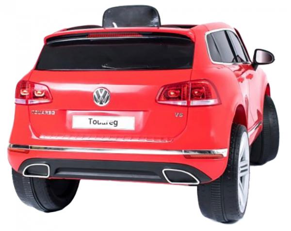 Masinuta electrica Premier Volkswagen Touareg, 12V, roti cauciuc EVA, scaun piele ecologica, rosu 4