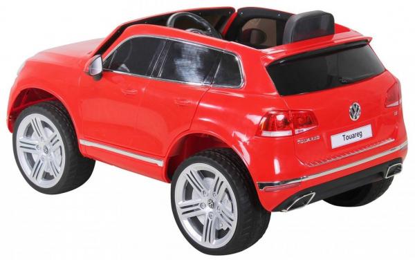 Masinuta electrica Premier Volkswagen Touareg, 12V, roti cauciuc EVA, scaun piele ecologica, rosu 5