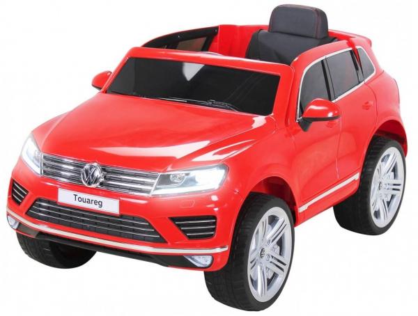 Masinuta electrica Premier Volkswagen Touareg, 12V, roti cauciuc EVA, scaun piele ecologica, rosu 0