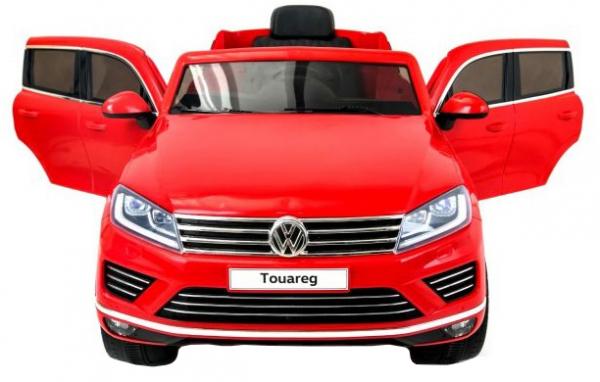 Masinuta electrica Premier Volkswagen Touareg, 12V, roti cauciuc EVA, scaun piele ecologica, rosu 6