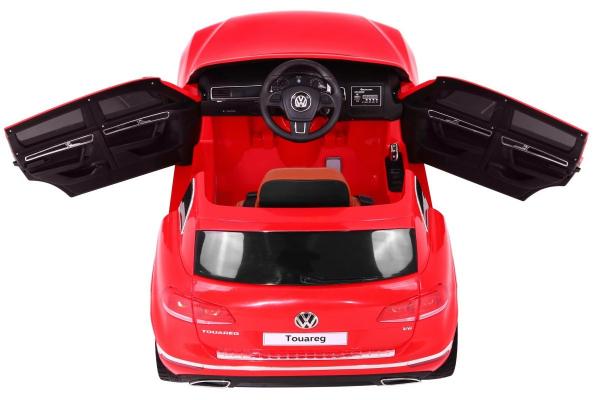 Masinuta electrica Premier Volkswagen Touareg, 12V, roti cauciuc EVA, scaun piele ecologica, rosu 7