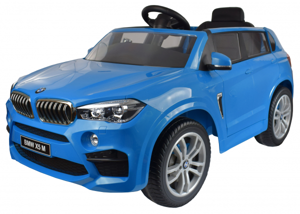 Masinuta electrica Premier BMW X5M, 12V, roti cauciuc EVA, scaun piele ecologica, albastru 10