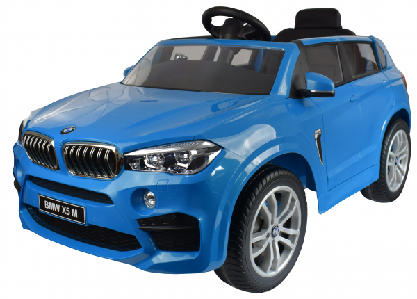 Masinuta electrica Premier BMW X5M, 12V, roti cauciuc EVA, scaun piele ecologica, albastru 0