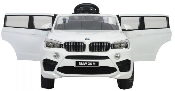 Masinuta electrica SUV Premier BMW X5M, 12V, roti cauciuc EVA, scaun piele ecologica, alb [1]