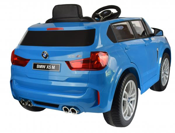 Masinuta electrica Premier BMW X5M, 12V, roti cauciuc EVA, scaun piele ecologica, albastru 3